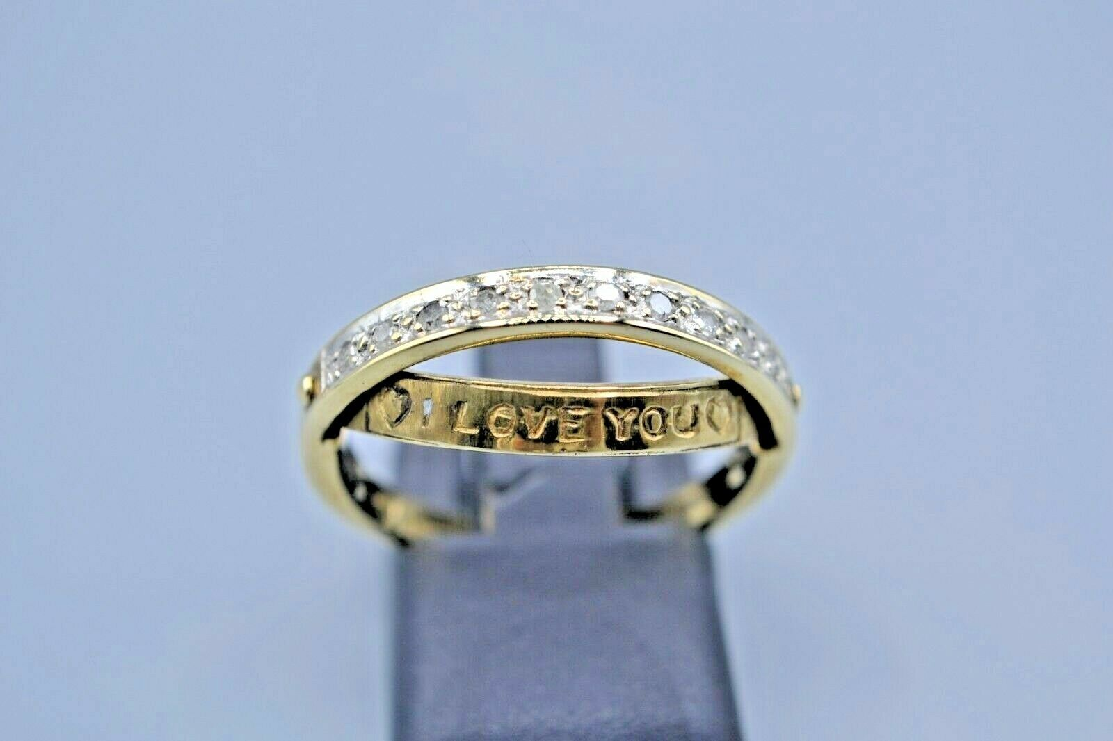 9ct Diamond I Love You Ring